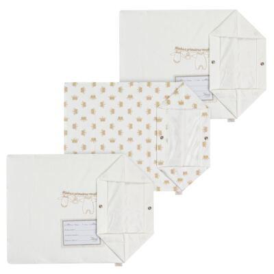 Imagem 1 do produto Kit 3 Saquinhos para maternidade Minhas Primeiras Roupinhas King - Anjos Baby
