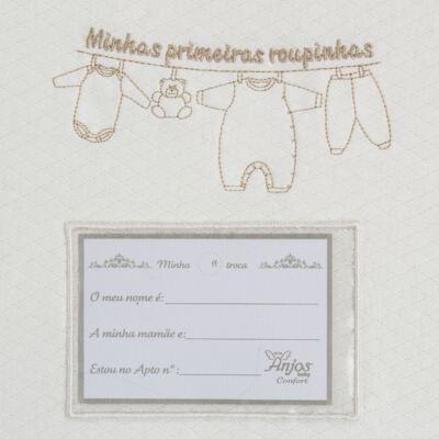 Imagem 5 do produto Kit 3 Saquinhos para maternidade Minhas Primeiras Roupinhas King - Anjos Baby