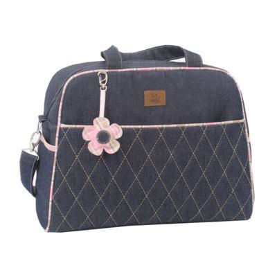 Imagem 2 do produto Bolsa maternidade para bebe + Frasqueira New Little Flower Jeans - Hey Baby