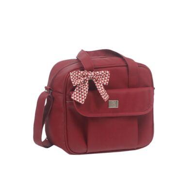Imagem 4 do produto Mala maternidade + Bolsa + Frasqueira térmica + Mochila + Porta Mamadeira Laço Vermelho - Hey Baby