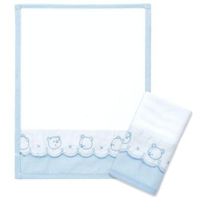 Imagem 1 do produto Kit com 2 fraldas de boca atoalhadas Ursinhos - Classic for Baby