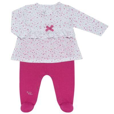Imagem 2 do produto Jogo Maternidade para bebe com Macacão e Manta em malha Little Cute - Vicky Lipe - 21381362 JG MATERNIDADE MACA-VESTIDO MALHA ELEFANTINHO-RN