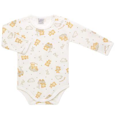 Imagem 1 do produto Body longo para bebe em suedine Naturé - Baby Classic - BS511.294 BODY M/L AVUSO - SUEDINE CAQUI-RN