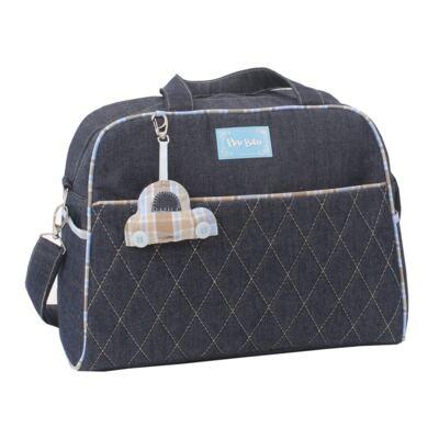 Imagem 3 do produto Mala maternidade para bebe + Bolsa + Frasqueira Little Car Jeans - Hey Baby
