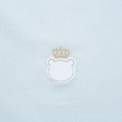 Imagem 2 do produto Jogo de lençol para berço em malha Royalty Bear Azul  - Classic for Baby