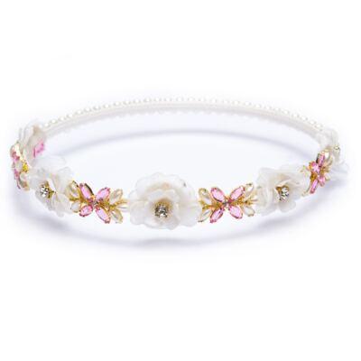 Imagem 1 do produto Coroa Flores & Pedraria Marfim - Roana