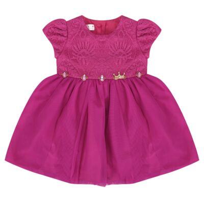 Imagem 1 do produto Vestido para bebe em renda & pedraria Catherine - Miss Sweet - MS1059 VESTIDO PEDRAS PINK-M