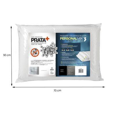 Imagem 4 do produto Travesseiro Personal Mix 3 com Altura Ajustável - Fibrasca