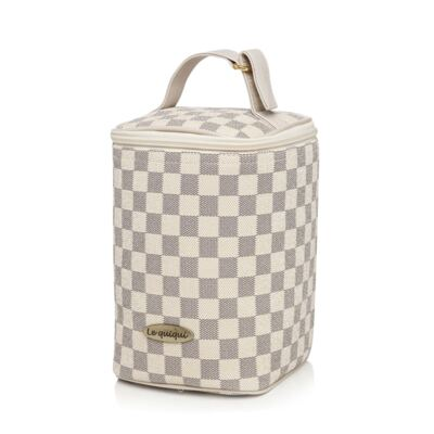 Imagem 3 do produto Maxi Bolsa maternidade + Porta mamadeira New Scotland Marfim - Lequiqui