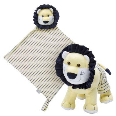 Imagem 1 do produto Kit: Bichinho Chocalho + Naninha Chocalho para bebe Leão - Anjos Baby