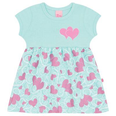 Imagem 1 do produto Vestido para bebê Cute Hearts Menta - Livy - LV4901.VD VESTIDO HEART COTTON AQUATIC-P