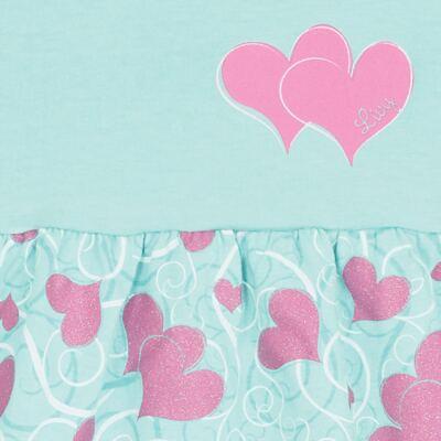 Imagem 2 do produto Vestido para bebê Cute Hearts Menta - Livy - LV4901.VD VESTIDO HEART COTTON AQUATIC-P