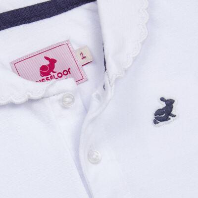 Imagem 2 do produto Polo em piquet Branca - Missfloor