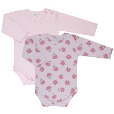 Imagem 1 do produto Kit 2 Bodies longos para bebe Flowery - Vicky Lipe - LTPBML10 PACK 2 BODEIS ML FLORIDO/LILÁS-P