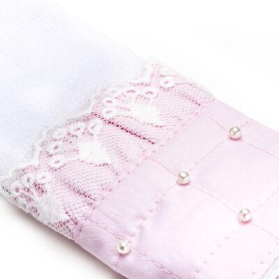 Imagem 2 do produto Kit com 3 paninhos de boca para bebe em fralda Matelassê Rosa - Roana