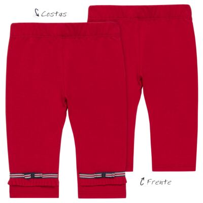 Imagem 1 do produto Legging para bebe em viscomfort Laço Vermelha - Baby Classic - 20511628 LEGGING C/ LAÇO VISCOMFORT BUTTERFLY-GG