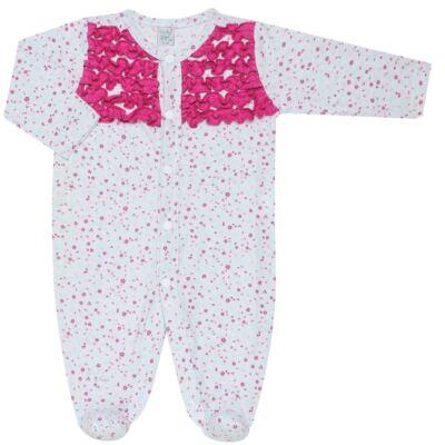 Imagem 1 do produto Macacão longo frufru para bebe em malha Little Cute - Vicky Lipe - 20761362 MACACÃO ML MALHA ELEFANTINHO-P