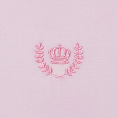 Imagem 2 do produto Jogo de lençol para berço em malha Coroinha Rosa - Classic for Baby