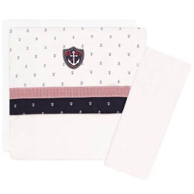 Imagem 1 do produto Jogo de lençol em malha para carrinho Navy - Classic for Baby