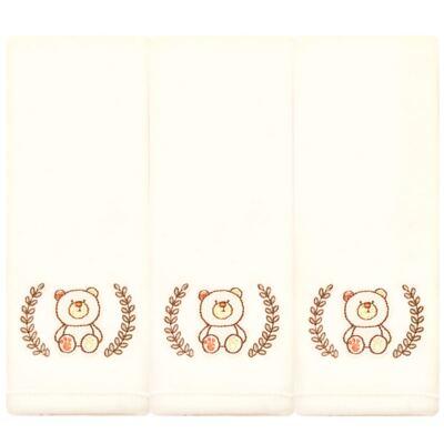 Imagem 1 do produto Kit com 3 fraldinhas de boca em malha Nature Beary Bear - Classic for Baby