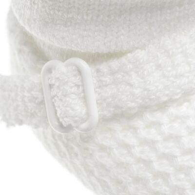 Imagem 3 do produto Botinha fivela em tricot Branca - Roana