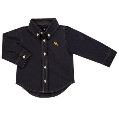 Imagem 1 do produto Camisa para bebê em chambray Preto - Charpey - CY21132.900 CAMISA CAMBREY ML PRETO-M