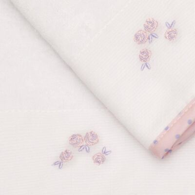 Imagem 2 do produto Kit com 2 fraldas de boca atoalhadas Rosinhas - Classic for Baby