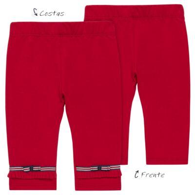 Imagem 1 do produto Legging para bebe em viscomfort Laço Vermelha - Baby Classic - 20511628 LEGGING C/ LAÇO VISCOMFORT BUTTERFLY-M