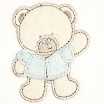 Imagem 2 do produto Manta em Pima Cotton Supreme Blue Baby Bear - Classic for Baby