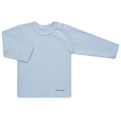 Imagem 2 do produto Pijama longo para bebe canelado Azul - Dedeka - DDK0840/25 Conjunto Canelado Azul-RN