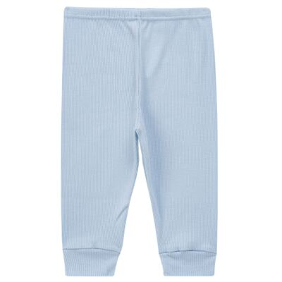 Imagem 3 do produto Pijama longo para bebe canelado Azul - Dedeka - DDK0840/25 Conjunto Canelado Azul-RN