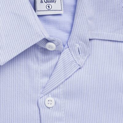 Imagem 2 do produto Camisa para bebe em tricoline Listras Azul - Sylvaz - SZ767 CAMISA LISTRAS ML AZUL-2