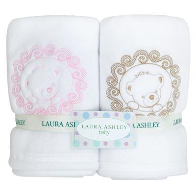 Imagem 1 do produto Duo de cobertores para bebe em soft Pink Teddy Bear - Laura Ashley Baby