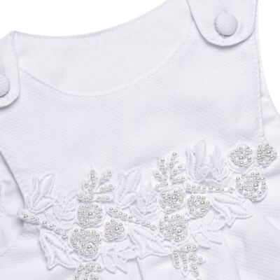 Imagem 3 do produto Saída Maternidade para bebe Lauren: Vestido + Body longo + Manta - Roana