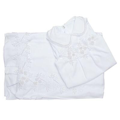 Imagem 10 do produto Saída Maternidade para bebe Lauren: Vestido + Body longo + Manta - Roana