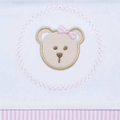Imagem 2 do produto Jogo de lençol para berço em malha Pink Teddy Bear - Hey Baby
