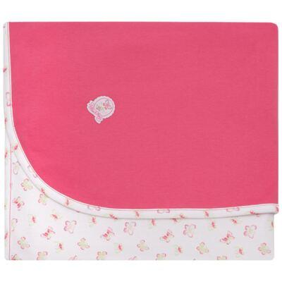 Imagem 1 do produto Manta em algodão egípcio c/ jato de cerâmica e filtro solar fps 50 Borboletinhas - Mini & Kids