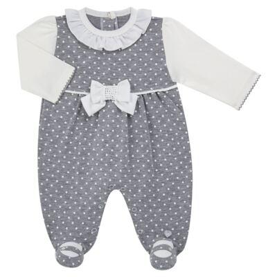 Imagem 1 do produto Macacão longo para bebe em suedine Petit Pois - Anjos Baby - AB171064.032 MACACAO LONGO FEM. T07-GG