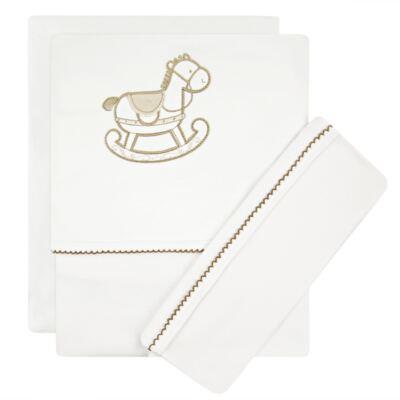 Imagem 1 do produto Jogo de lençol para berço em Pima Cotton Supreme Baby Horse - Classic for Baby