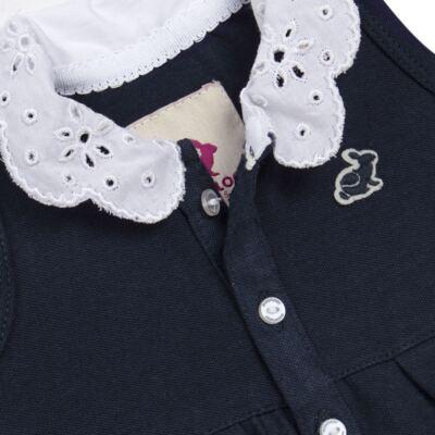 Imagem 3 do produto Vestido curto com Calcinha para bebe em piquet Marinho - Missfloor - 18VC0001.365 VESTIDO POLO REGATA C/CALCINHA-PIQUET-9-12