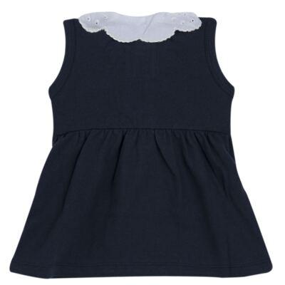Imagem 4 do produto Vestido curto com Calcinha para bebe em piquet Marinho - Missfloor - 18VC0001.365 VESTIDO POLO REGATA C/CALCINHA-PIQUET-9-12