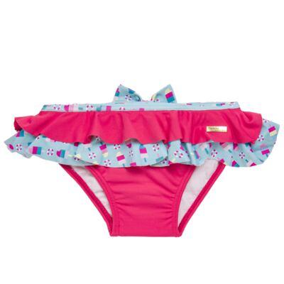 Imagem 3 do produto Conjunto de banho Sweet Candy: Biquini + Chapéu - Dedeka - DDK17433/L17 Calcinha e Chapeu Rosa Pink-1