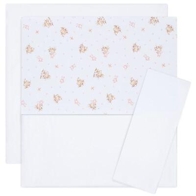 Imagem 1 do produto Jogo de lençol para berço em malha Pink Little Toys - Classic for Baby