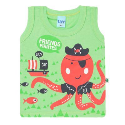 Imagem 2 do produto Regata com Shorts em tactel Green Pirate - Livy