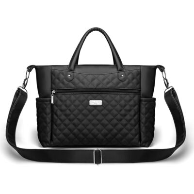 Imagem 2 do produto Kit Bolsa Paris + Frasqueira térmica Nantes Silver Preta - Classic for Baby Bags