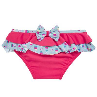 Imagem 2 do produto Conjunto de banho Sweet Candy: Biquini + Chapéu - Dedeka - DDK17433/L17 Calcinha e Chapeu Rosa Pink-3