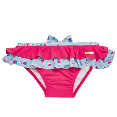 Imagem 3 do produto Conjunto de banho Sweet Candy: Biquini + Chapéu - Dedeka - DDK17433/L17 Calcinha e Chapeu Rosa Pink-3