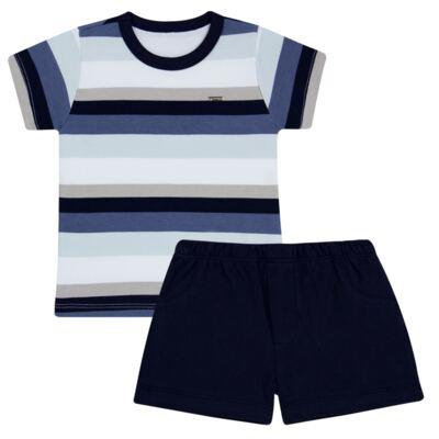 Imagem 1 do produto Camiseta com Shorts em algodão egípcio Ailu - Grow Up - 05010090.0003 CONJUNTO FLY AZUL-1