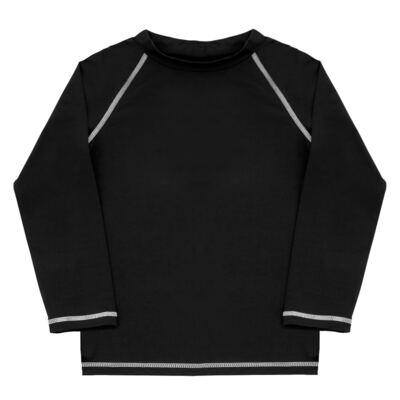 Imagem 1 do produto Camiseta longa Surfista para bebê em lycra FPS 50 Preta - Dedeka - DDK18512/L09 CAMISETA ML FLUITY PRETO-2
