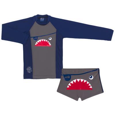 Imagem 1 do produto Conjunto de Banho Tuba: Camiseta surfista + Sunga - Cara de Criança - KIT 2 2571: SB2571+CSAL2571-3